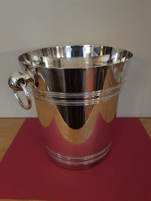 Champagne cooler  (1) - Look closely at the photos-  Silver brands, Silver - France - Art Deco