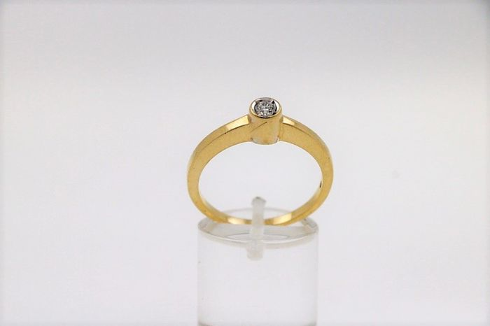 18 karaat - Ring - 0.25 ct Diamant
