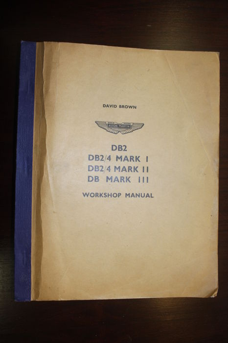 Books - Aston Martin DB2 workshop manual - 1958-1967