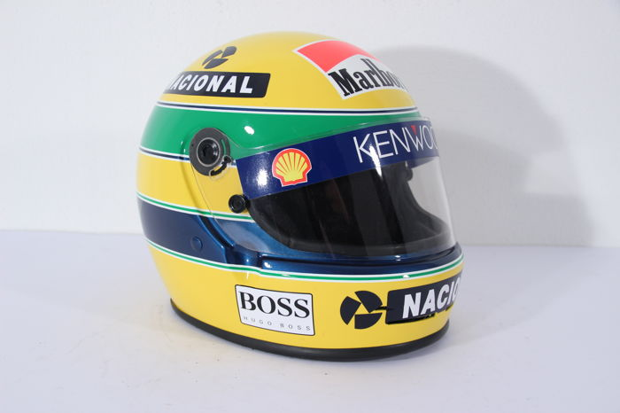 mclaren formule 1 ayrton senna 1993 replica helm. Black Bedroom Furniture Sets. Home Design Ideas