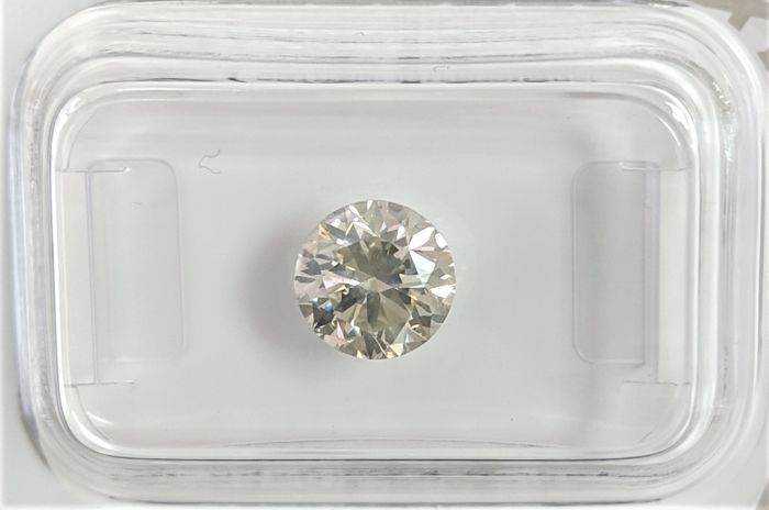 1.26 ct - Natural White Diamond - K Color - SI1 - EX/VG/VG - NO RESERVE!