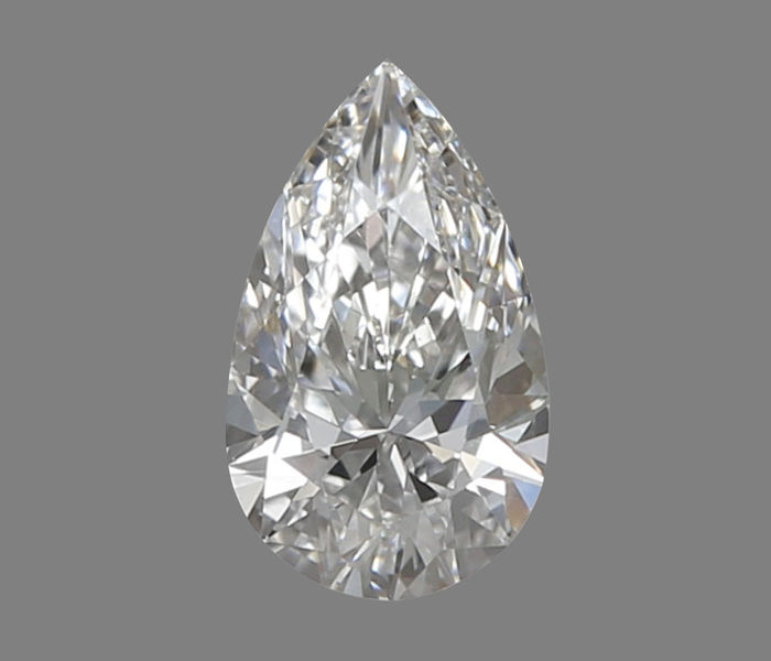 """Pear diamond certified and engraved GIA 0.31 ct F-IF """"low reserve price"""""""