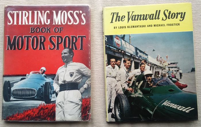 Libros - The Vanwall story Book Motorsport Klemantaski Moss - 1955-1958 (2 objetos)