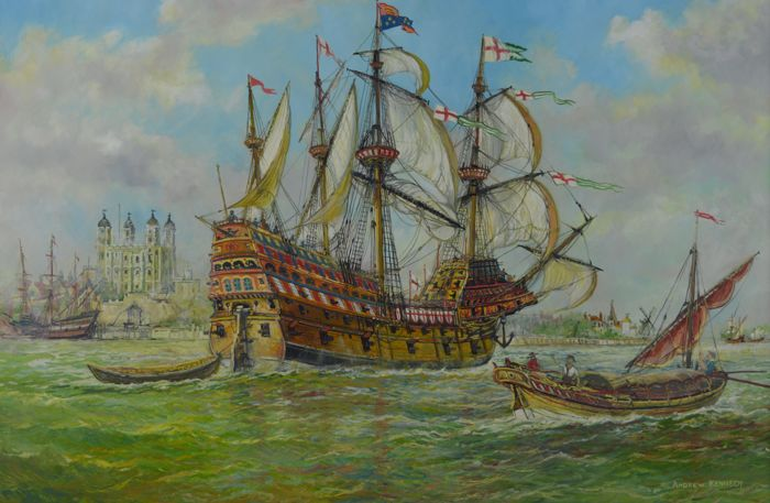 Andrew Kennedy - The Mary Rose in the Pool of London