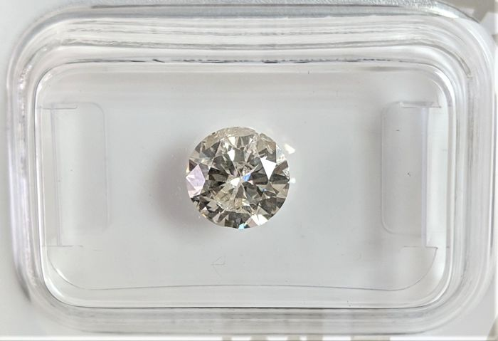 1.03 ct - Natural White Diamond - K Color - I1 - VG/VG/VG - NO RESERVE!
