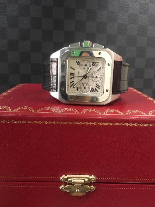 Cartier - Santos 100 XL Chronograph - Ref. 2740 - Men - 2000-2010