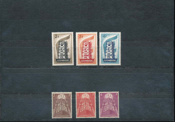 Europe 1956/1957 - CEPT Luxembourg 1956 and 1957