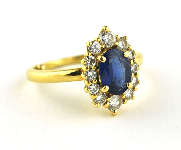 Ring - Gold - Sapphire and Diamond
