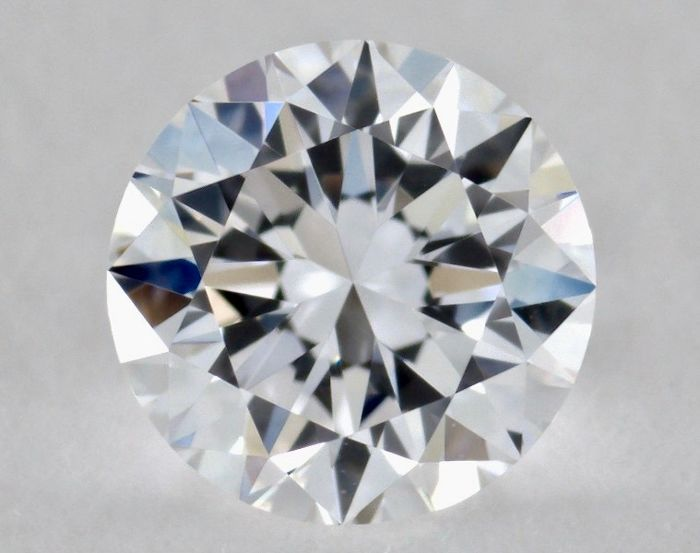 Round diamond 0.20 ct, certified and engraved by GIA, colour D, clarity IF