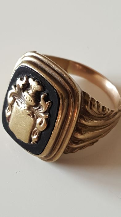 Ring - Gold - Onyx