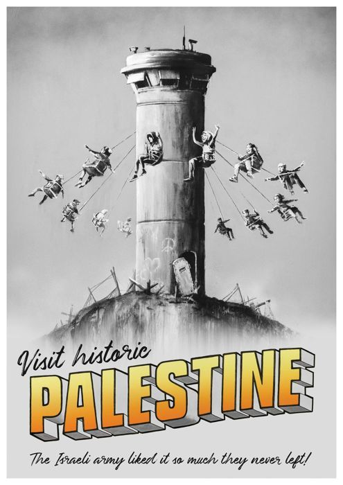Banksy Palestine Poster WTM Excel London MINT condition