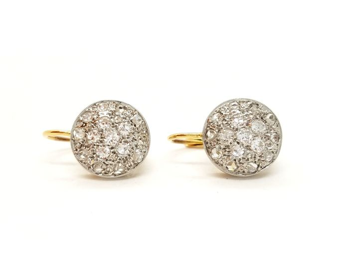 Pendientes - Oro, Oro blanco - 0.45 ct - Diamante