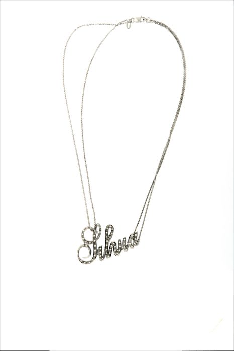 Collar con colgante - Oro blanco - 0.61 ct - Diamante