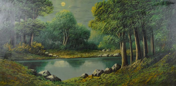 Brolli - A wooded riverside landscape
