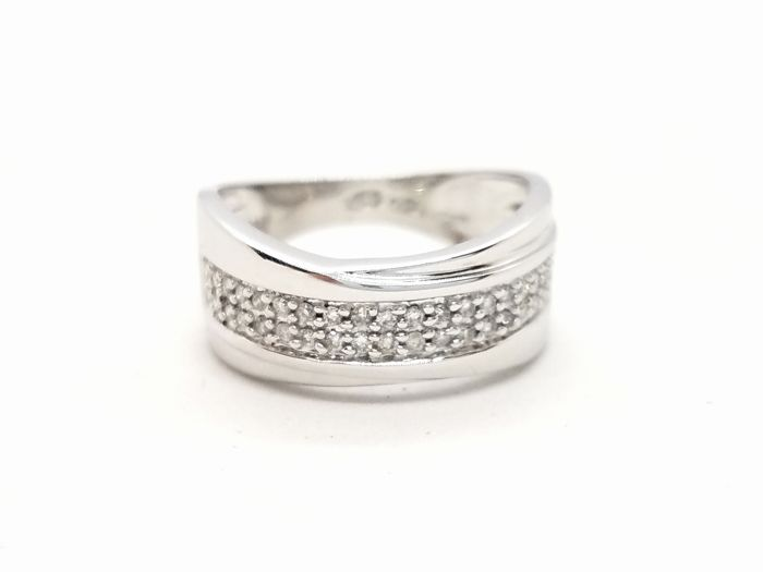 Ring - White gold - 0.2 ct - Diamond