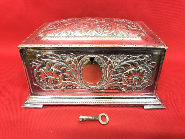 Antique silver jewelry box set - Silverplate - France - 1875-1900