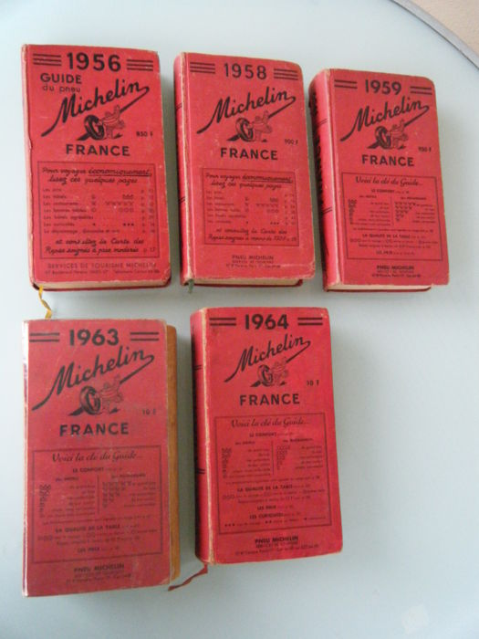 5 guías MICHELIN - GUIDES  - 1956-1964