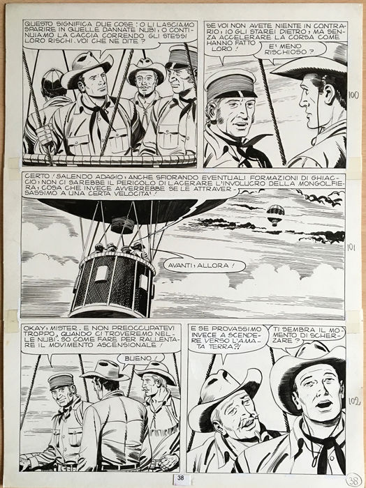 Tex #257 - G. Letteri - original page - First edition - (1982)