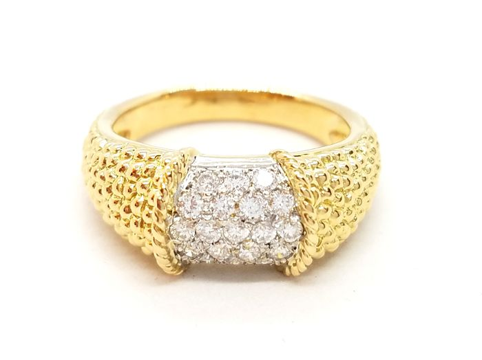 Ring - Gold - 0.28 ct - Diamond