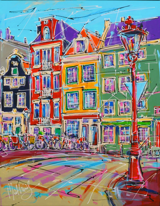 Mathias - Street of Amsterdam, bridge and red light