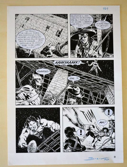 Zagor - 2x original page - Loose page - First edition
