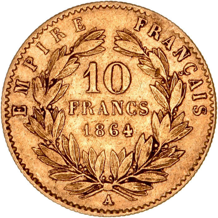 10 Francs 1864-A Napoléon III - Or