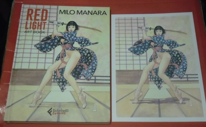 "Milo Manara - vol. ""Red Light"" Art Book Limited + Lito Firmata - Hardcover - Erstausgabe"