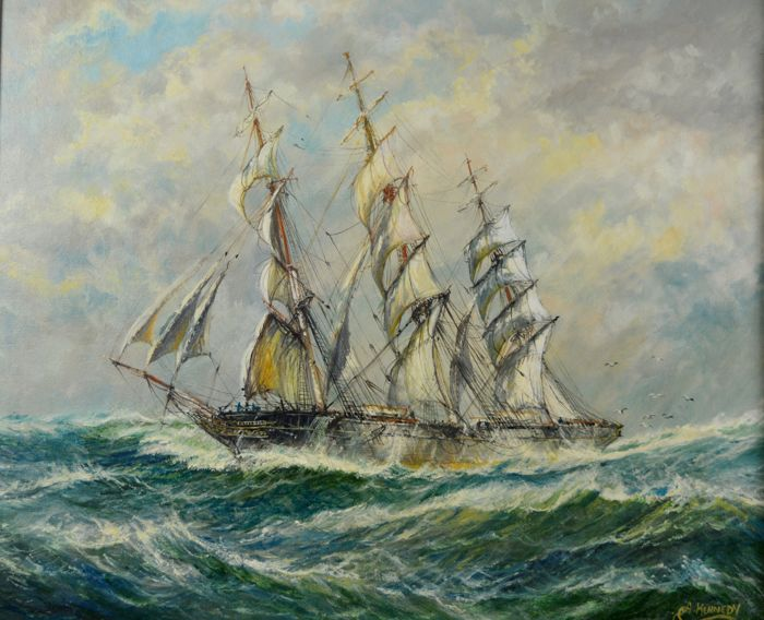Andrew Kennedy  - The Cutty Sark in a gale