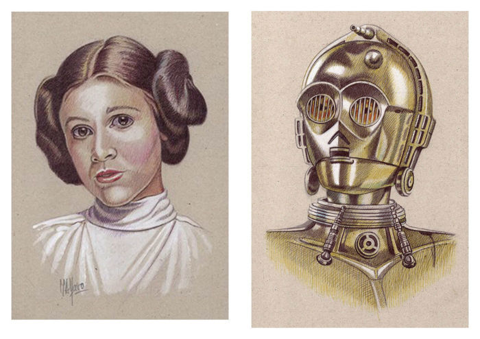 Star Wars - Lithografie, Verzamelaarsuitgave Lot of 25 litho's - in Folder, with Coa