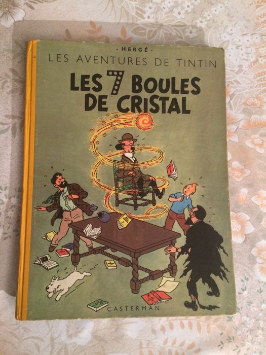 Tintin T13 - Les 7 boules de cristal (B2) - Hardcover - First edition - (1948)
