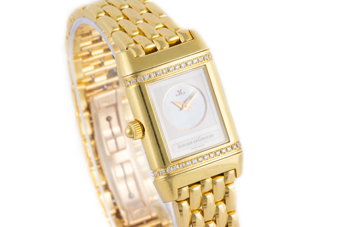 Jaeger-LeCoultre - Beautiful Reverso Duetto With Diamonds Gold - 18K - Dames - 2000-2010