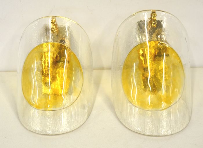 La Murrina - A pair of appliques - Amber glass - Catawiki
