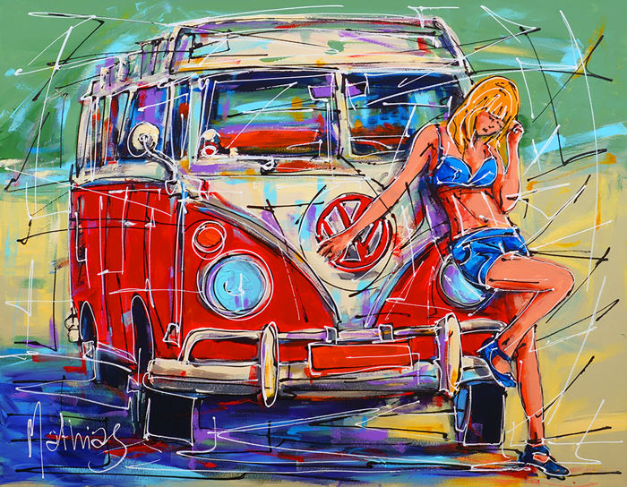 Mathias - Girl and red VW bus