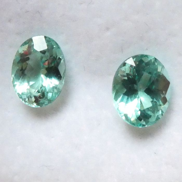 Apatite Matching Pair – 2.53ct – No Reserve Price