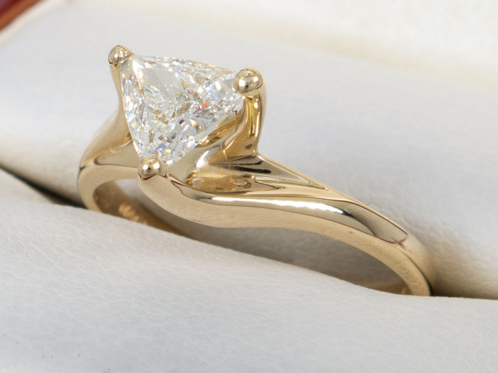 0,57 Ct-Diamond Solitaire ring VS1/G - 14K goud - Geen minimumprijs