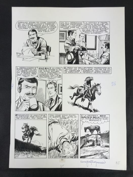 Storia del West #40 - Pony Express - original page - Loose page - First edition