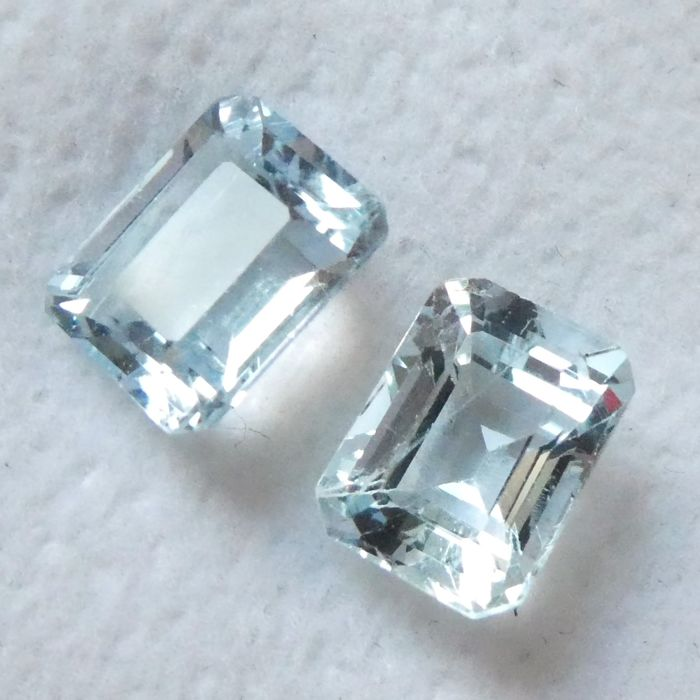 Aquamarine Matching Pair – 2.99 ct Total – No Reserve Price