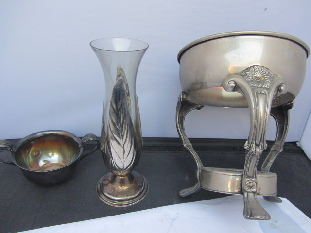 lot - diverse incl. raymond silver plate (u.s.a.) - vase of 3 - Silver plated - unknown - ca' 1900
