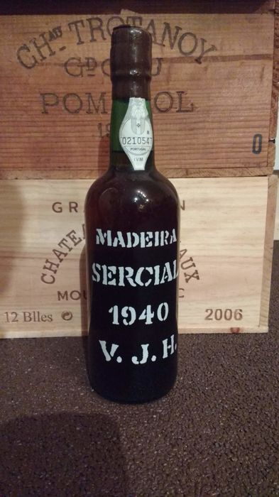 1940 Justino Henriques - Madeira Sercial - 1 Normalflasche (0,75 Liter)