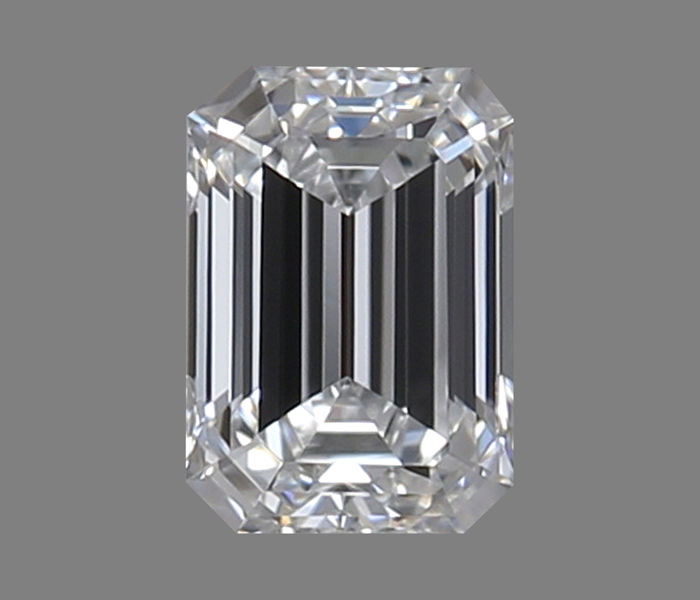 """Emerald cut diamond of 0.30 ct, certified and engraved by GIA, colour D, clarity VVS2 """"low reserve price"""""""