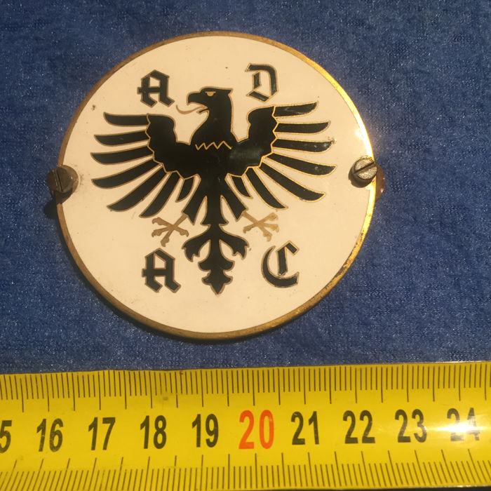 Insigne - Plakette Car Badge Rally ADAC email - 1960