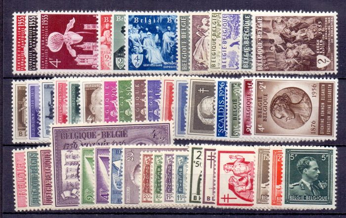 Bélgica 1955/1956 - Two complete years - OBP / COB 961 t/m 1007
