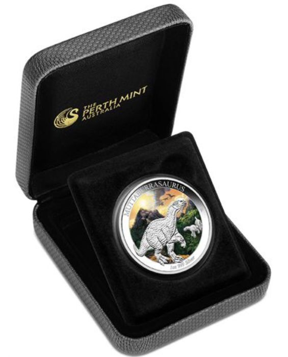 Australia - 1 Dollar 2015 - Muttaburrasaurus - 1 oz Proof Coloured - Silver