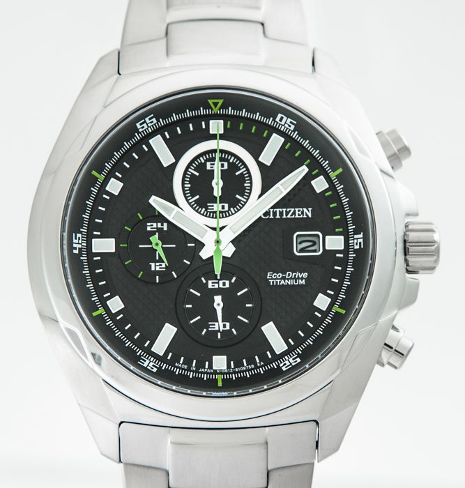 Citizen - Eco-Drive Solar Titanium Men's Chronograph 43mm - CA0190-56E (Low reserve price) - Hombre - 2011 - actualidad