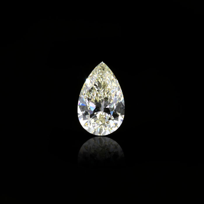 1 pcs Diamant - 1.09 ct - Peer - W-X - SI1