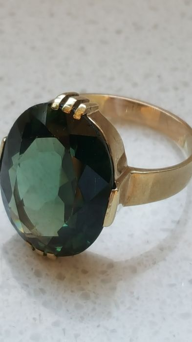 Ring - Gold - Natural (untreated) - 8 ct - Tourmaline