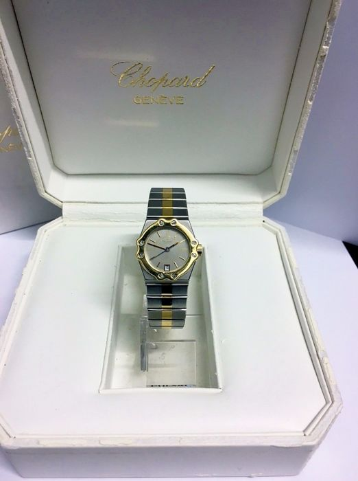 Chopard - St. Moritz 18ct Gold Date Watch - 8024 - Mujer - 1990-1999