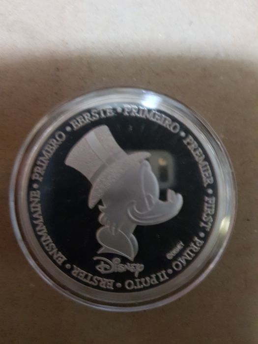 Disney The First of Uncle Scrooge Coin - Scrooge McDuck First Euro Coin 9999 gold plated