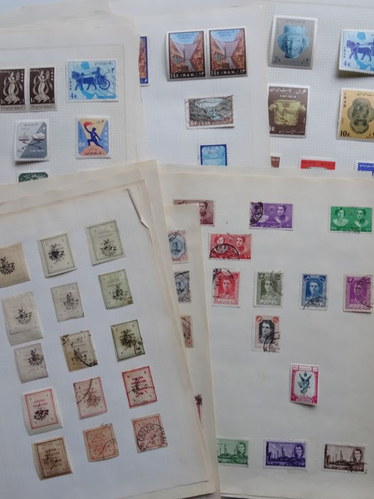 Iran 1882/1967 - Old collection on blank sheets