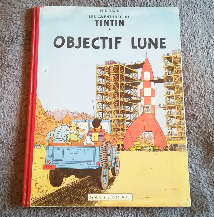 Tintin T16 - Objectif Lune (B8 belge) - Hardcover - First edition - (1953)